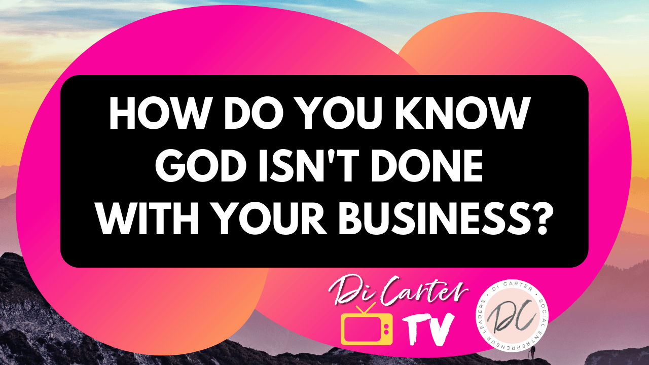 How do I know God isn't done with me?